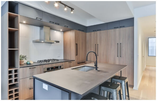 sink & tap in fitted kitchen
